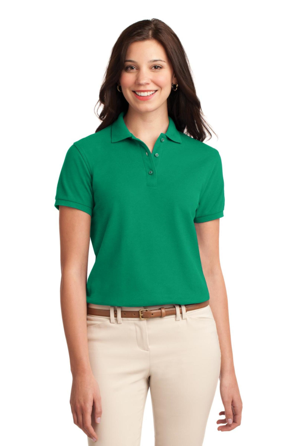 Port Authority Embroidered Women's Silk Touch Pique Polo